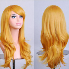 Blonde 70cm Women Curly Wavy Hair Wig Fashion Costume Party Anime Cosplay