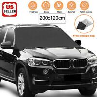 Car Windshield Snow Cover Sun Shade Winter Ice Dust Frost Guard Protector 80*47""