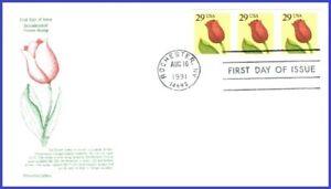 USA3 #2525 Pl #1111 U/A ARISTOCRAT FDC PNC3 Flower - Roulette
