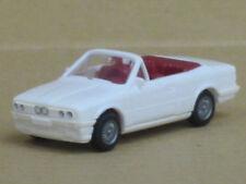 BMW 325i Cabrio mit Alufelgen in weiß, ohne OVP, Wiking, 1:87