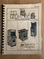 midway ms. pac-man parts and operating manual