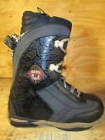 Ride Onyx Womens Black Leopard Snowboard Boots Various Sizes