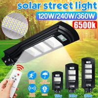 360W 351 LED Lampione Stradale Faro Pannello Solare Telecomando  Fotovoltaico