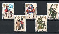 GB 1983  BRITISH ARMY UNIFORMS SG 1218 to 1222 VFU