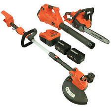 Redback 40-Volt String Trimmer/ Leaf Blower/ Chainsaw Homeowner Combo Kit (In...
