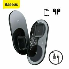 Baseus 15W Qi Wireless Charger Pad Fast Charging Dock for 11 Pro Max Airpod Pro