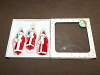 "VINTAGE  3  CZECH REPUBLIC 5"" HIGH CHRISTMAS TREE ORNAMENTS IN BOX"