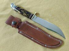 "Western USA 10"" Plum Crazy Fixed Blade Knife w/sheath Mint"