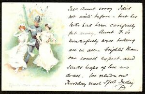 1901 ROBERTS ATTACK ON OUR GENERALS COMIC POLICE GLAMOUR POSTCARD VICTORIA STAMP