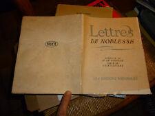 LETTRES DE NOBLESSE :Curninsky : Edité par le Roquefort Socété 1935