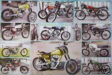 """HONDA JX MOTORCYCLES POSTER """"12 MODELS"""" - JAPANESE MOTORBIKES & CYCLES"""