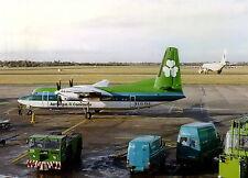 "Aer Lingus Fokker F-50 EI-FKA ""St Fintan"" at Birmingham Airport (BHX) Postcard"