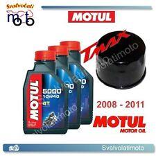 KIT TAGLIANDO YAMAHA T-MAX TMAX 2008 3 LITRI OLIO MOTUL 5000 10W40 + FILTRO OLIO
