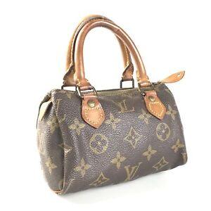 100% authentic Louis Vuitton Monogram Mini Speedy M41534 handbag used 1735-11T33
