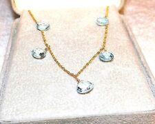 14Kt Aquamarine Necklace 5 Kt
