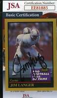 Jim Langer 1991 Enor Hall Of Fame Jsa Coa Hand Signed Authentic Autograph