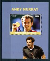 Chad 2016 CTO Andy Murray 1v M/S Tennis Sports Stamps