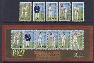 Alderney 1997 Mint MNH Full Set Minisheet Cricket Club Botham Wisden Larwood