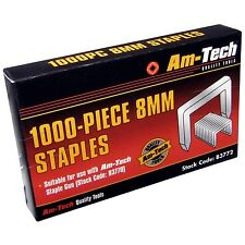 1000PC 8MM STAPLES REFILL BEST QUALITY AMTECH STAPLE GUN TACKERS 11.3X0.7X8MM