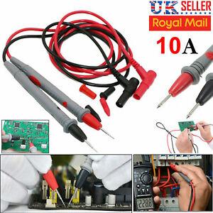 10A High Quality Safe Digital Multimeter Test Leads Probes Volt Meter Cable UK