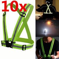 Reflective Adjustable Safety Security High Visibility Vest Gear Stripes Jacket*1