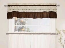 CHF Industries Jayden Ruffled Valance Floral Flower Red Ivory 60x14 Window NEW