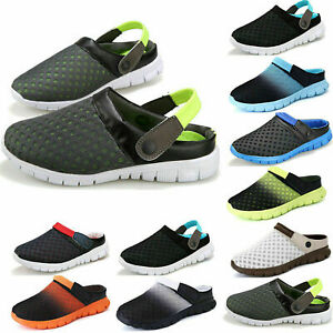 NEW  mens mesh beach shower clogs slip-on  sandals