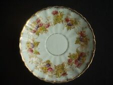 "CROWN CHINA -WILD BROS. -SAUCER -HANDPAINTED -""EDNA"" -c1904 -FLORAL / GILDING"