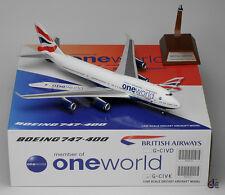 """British Airways B747-400 Reg: G-CIVK """" One World """" JC Wings 1:200 Diecast XX2855"""