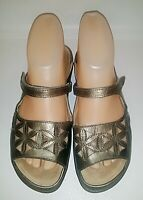 Naot Women's Bronze Tooled Leather Casual Slide Sandals EUR 36 US 5