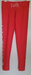 Teespring Women's Size S Fitness Stretch Leggings Red Coral ZWN Yoga Pants