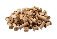 60 Wooden Spools Reels Sewing Ribbon Twine Bobbins Crafts Assorted Sizes Natural