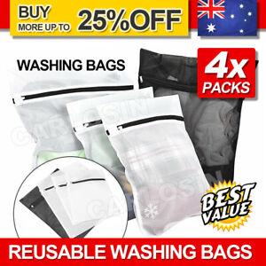 4pcs Laundry Wash Bag Delicates Bra Lingerie Mesh Clothes Zipper Washing Case