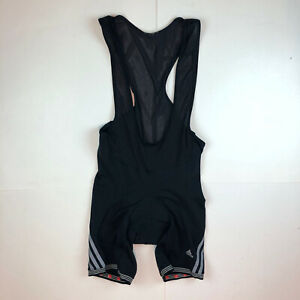 Adidas Cycling Bib Shorts Mesh Straps Black Red Chamois Large XL E4