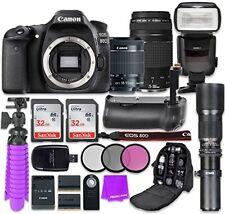Canon EOS 80D 24.2MP CMOS Full HD Wi-Fi Enabled Digital SLR Camera Bundle