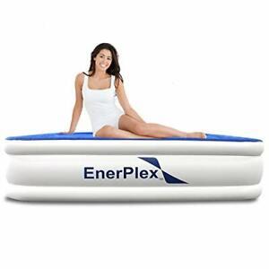 EnerPlex Premium Luxury Twin Size Air Mattress Airbed with Built in Pump Raised