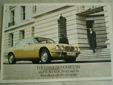 Daimler Sovereign 4.2 & 3.4, Double Six four door range brochure c1976