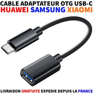 CÂBLE / ADAPTATEUR OTG USB-C VERS USB FEMELLE XIAOMI SAMSUNG HUAWEI TABLETTE