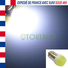 AMPOULE LAMPE 12V BA9S T4W 1 LED COB BLANC FROID XENON INTERIEUR TUNING