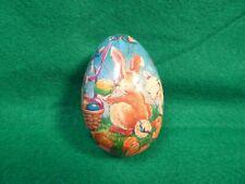 "Vintage Paper Mache Easter Egg 3.5"" Long- Made in Korea"