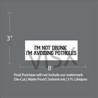 I/'M Not Drunk I/'M Dodging Potholes Chrome Metal License Plate Frame Tag Holder