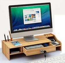 New DIY Office Wood Desk Organizer Pen File Holder Storage Computer Desktop Tray