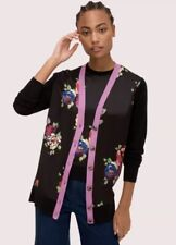 Kate Spade Rare Roses Cardigan Black Size Small NWT