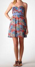 "NWT Blue Multi Coloured Floral LOLITA ""Stella Braid"" Strapless Dress Size 12"