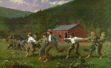 "Winslow Homer, ""Snap the Whip""  13.375""h x 22""w, Digital print"