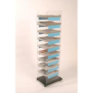 MD570 - Newspaper Display Stand 10 Tier: 320mm (W) x 1570mm (H) x 380mm (D)