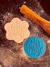 Happy Diwali Calligraphy Light Cookie Fondant Embosser Stamp 3D Printed 6cm
