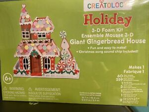 Christmas Creatology 3D Foam Craft KIt GIANT GINGERBREAD HOUSE Holiday Age6+ New