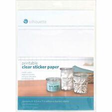 """Silhouette Printable Sticker Paper 8.5""""X11"""" 8/Pkg-Clear -CLRADH"""