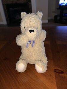 "Gund Classic Winnie the Pooh Stuffed Plush Animal 8"" Flowers Ribbon"